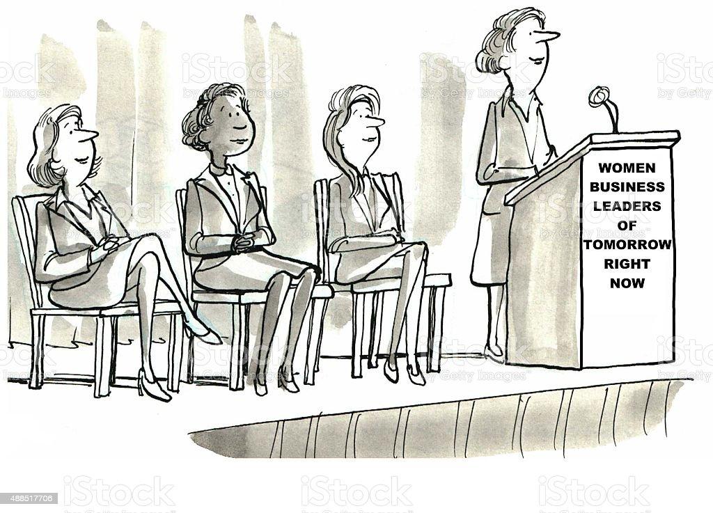 Women Business Leaders vector art illustration