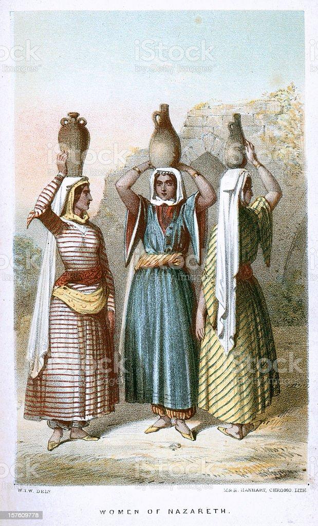 Women of Nazareth royalty-free stock vector art