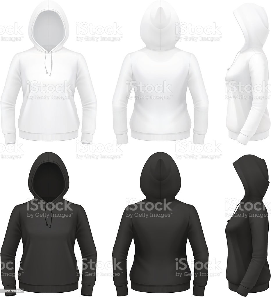 Women's hoodie royalty-free stock vector art