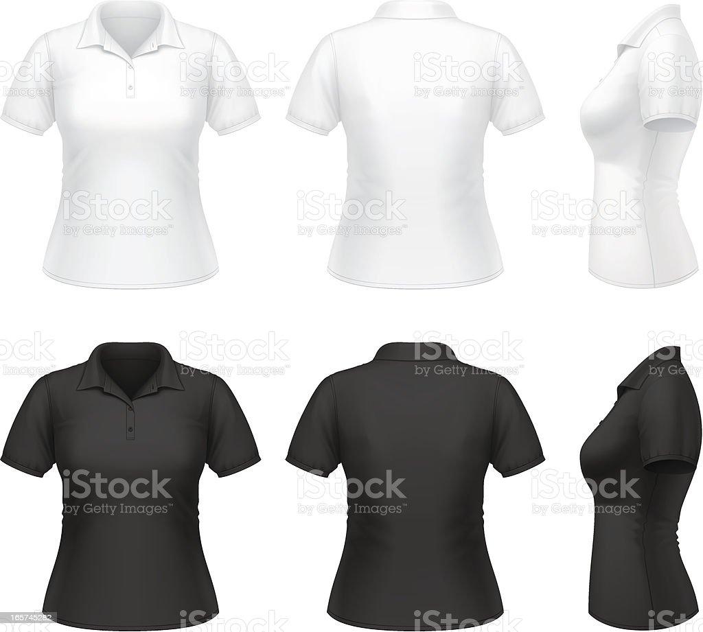 Women's polo shirt vector art illustration