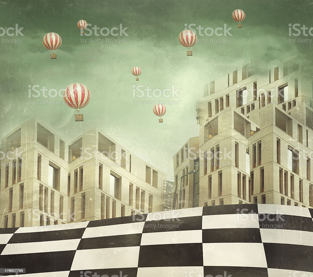 Wonderland vector art illustration
