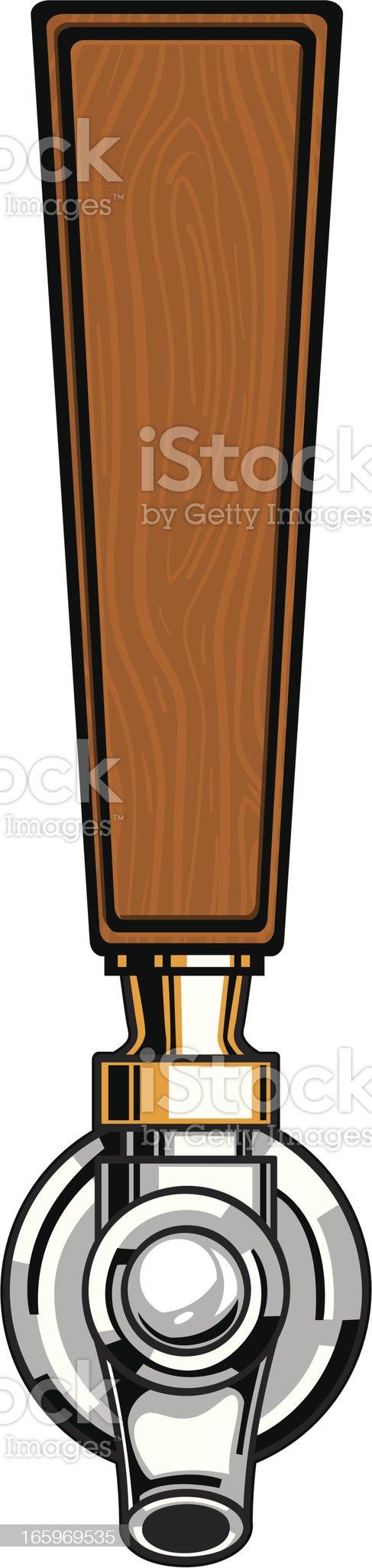 wood beer tap royalty-free stock vector art