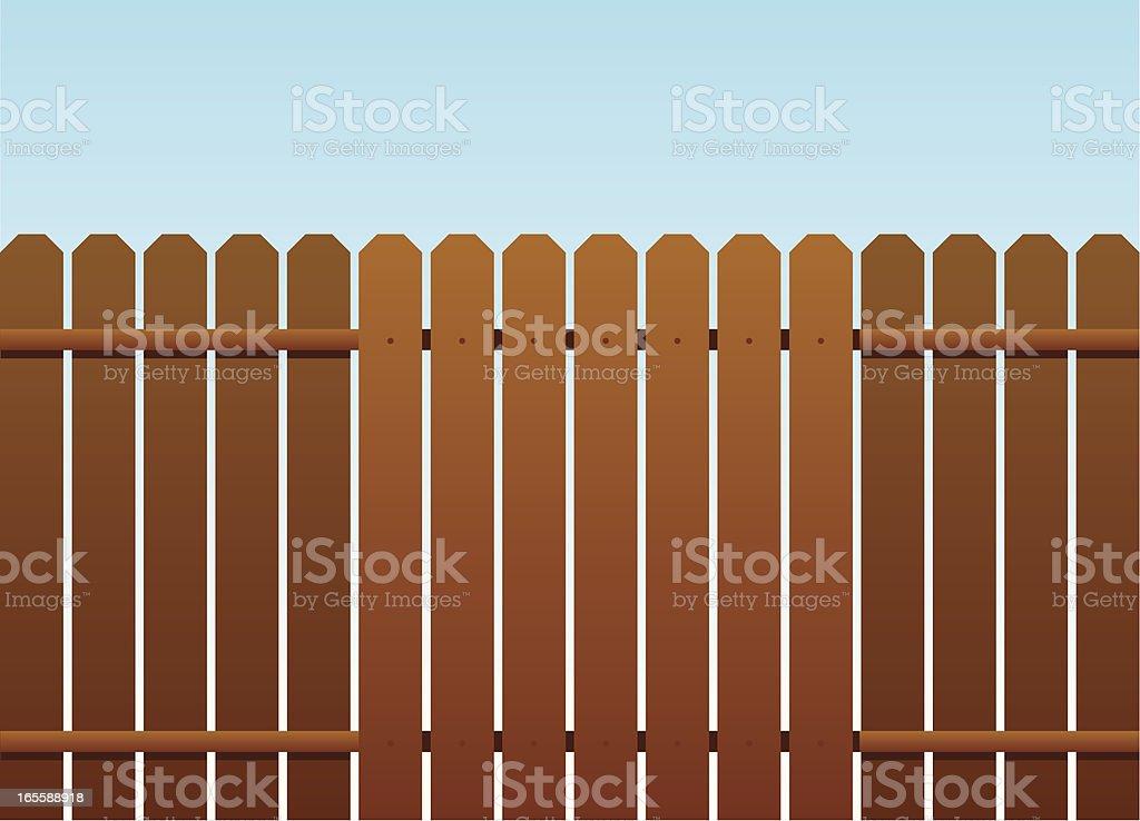 wood fence vector art illustration