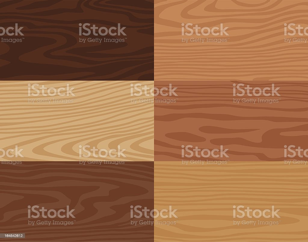 Wood Grain Textures vector art illustration