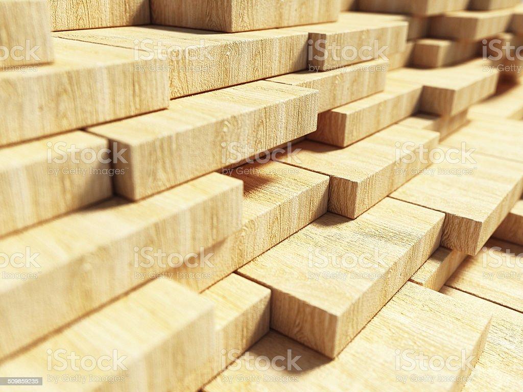 Wood planks vector art illustration