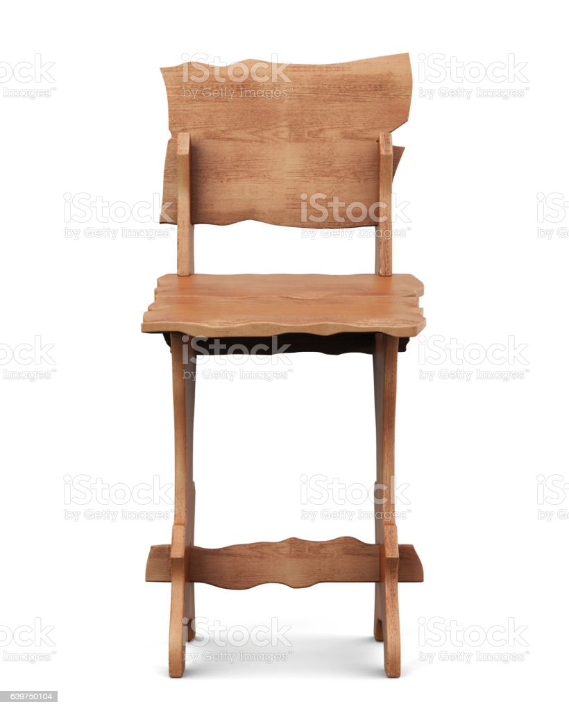 Wooden board stand for menu isolated. 3d rendering vector art illustration