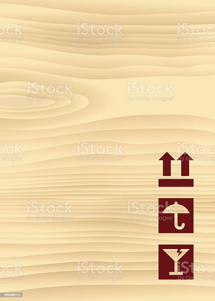 Wooden Box 01 vector art illustration