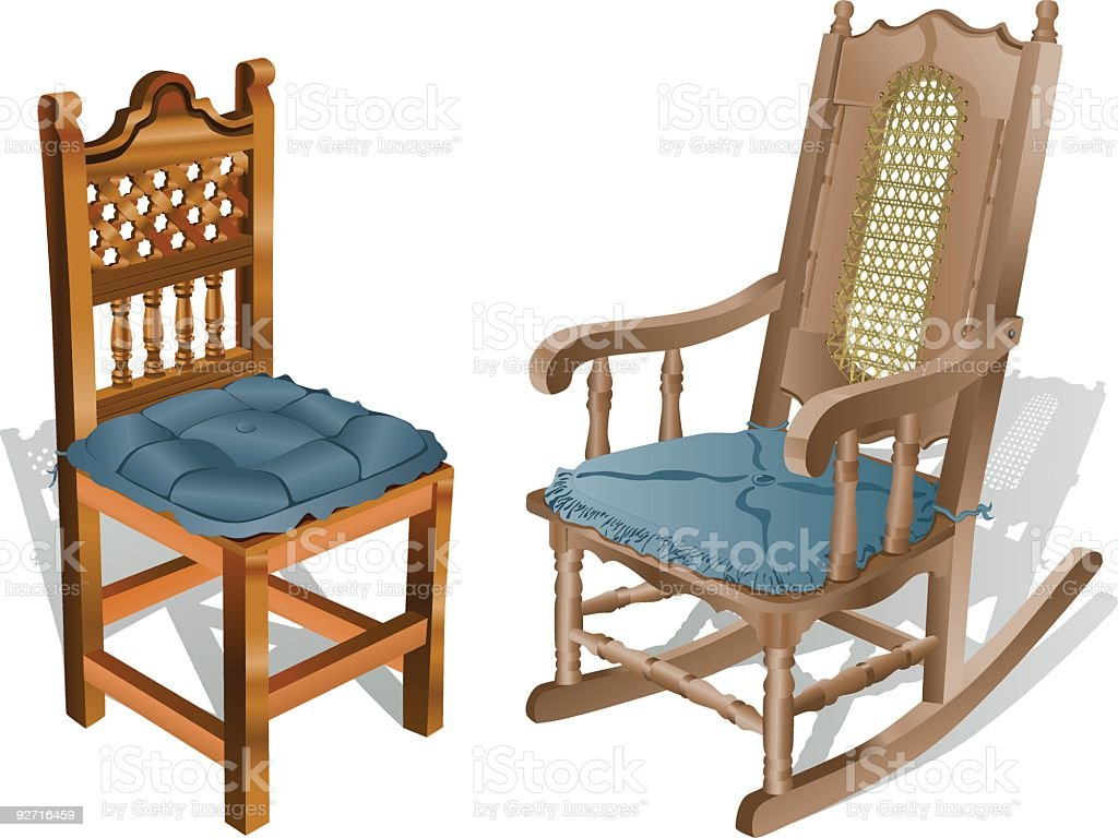 Wooden Chairs (Vector) royalty-free stock vector art