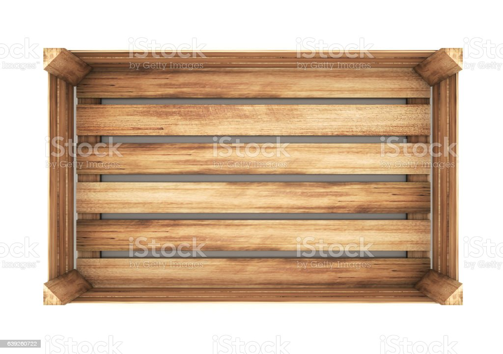 wooden crate. 3d illustration isolated on white vector art illustration
