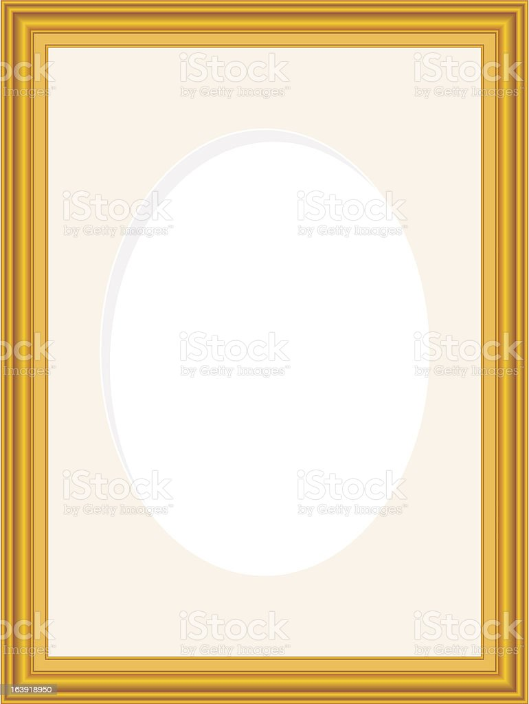 Wooden picture frame royalty-free stock vector art
