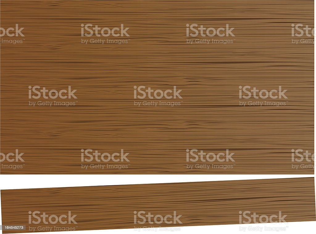 Wooden planks - Vector illustration vector art illustration