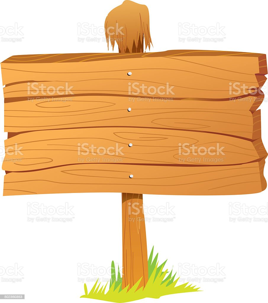 Wooden Sign Board royalty-free stock vector art
