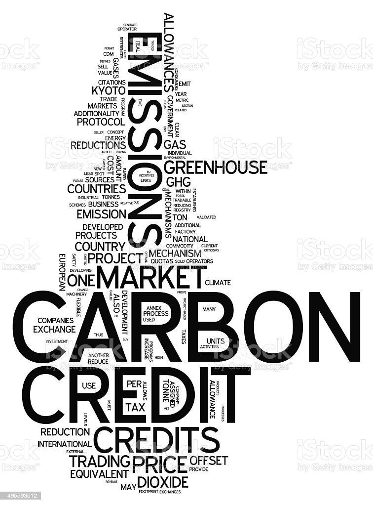 Word Cloud Carbon Credit vector art illustration