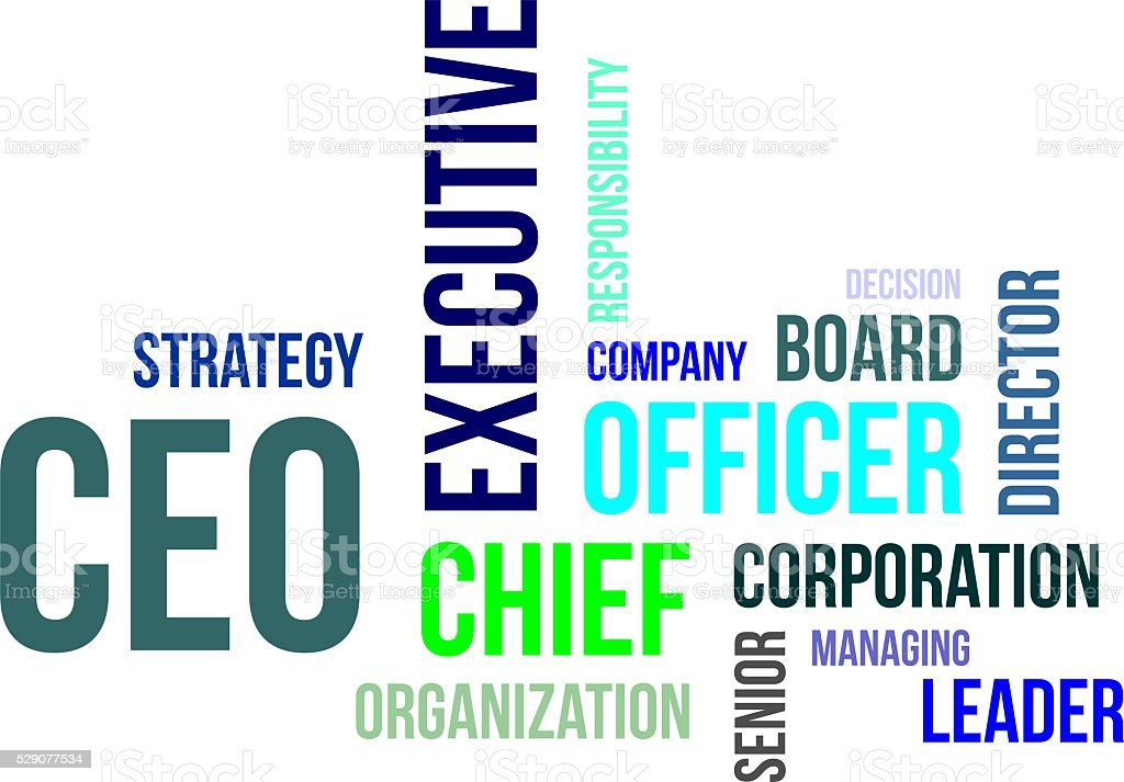 word cloud - ceo vector art illustration