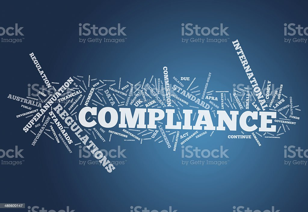 Word Cloud Compliance royalty-free stock vector art