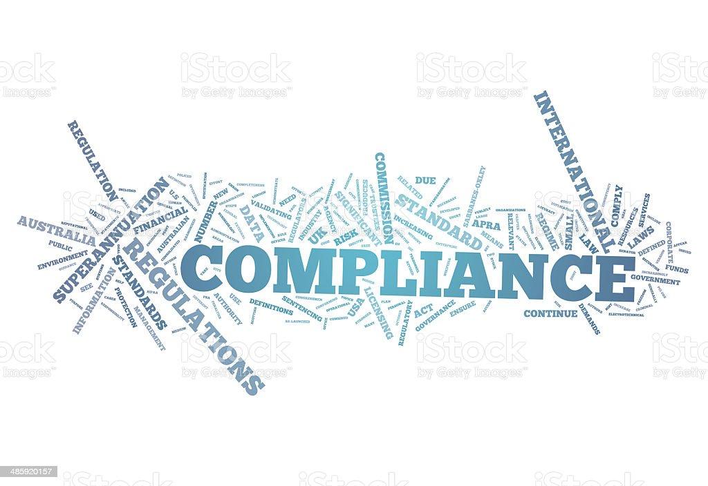 Word Cloud Compliance vector art illustration