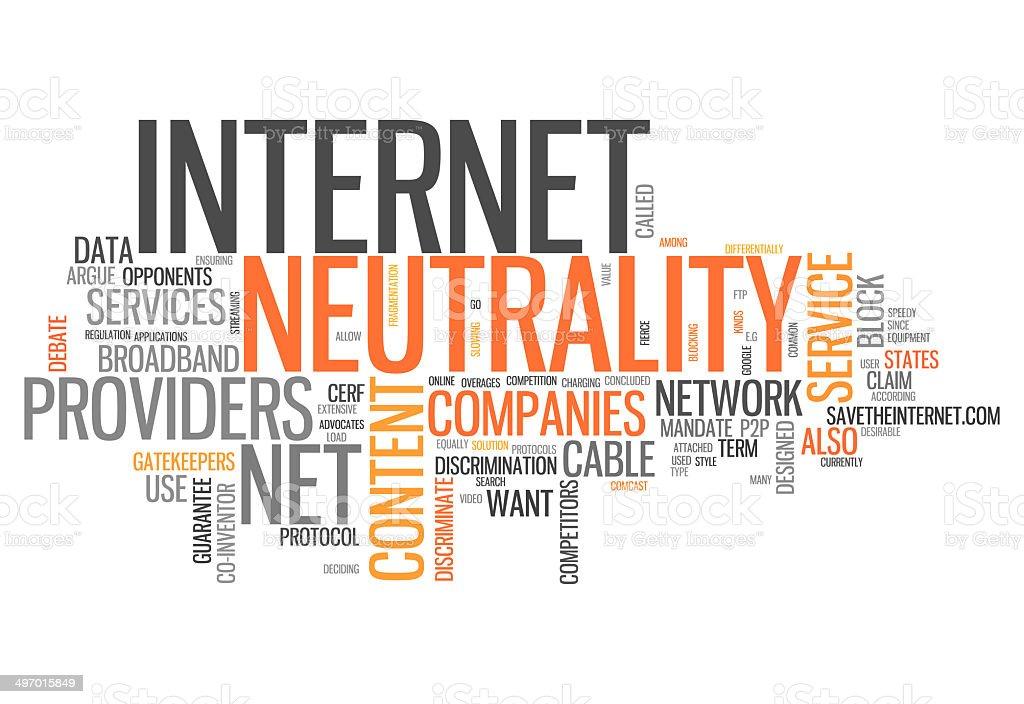 Word Cloud Internet Neutrality vector art illustration