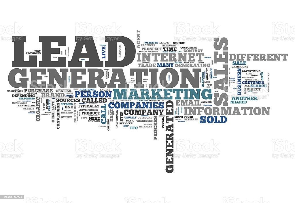 Word Cloud Lead Generation vector art illustration