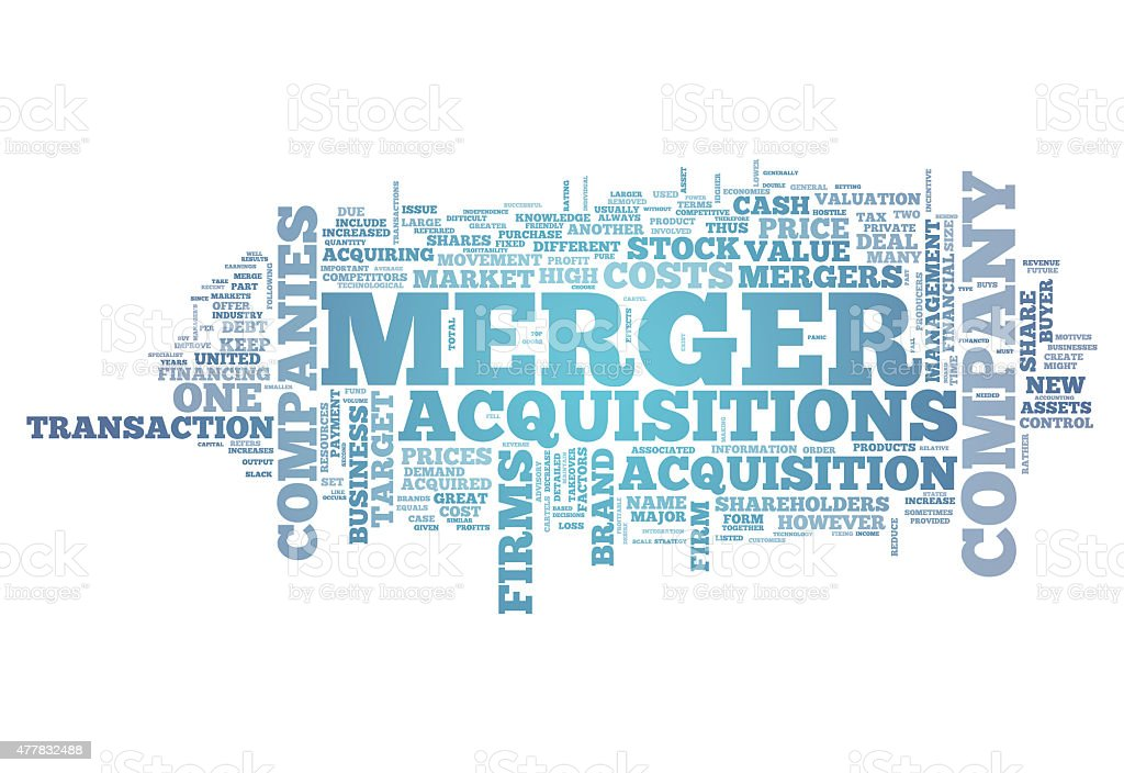 Word Cloud Merger & Acquisitions vector art illustration