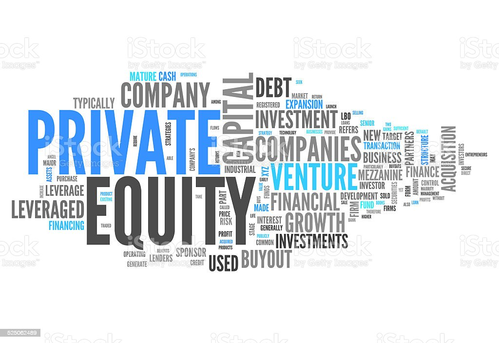 Word Cloud Private Equity vector art illustration