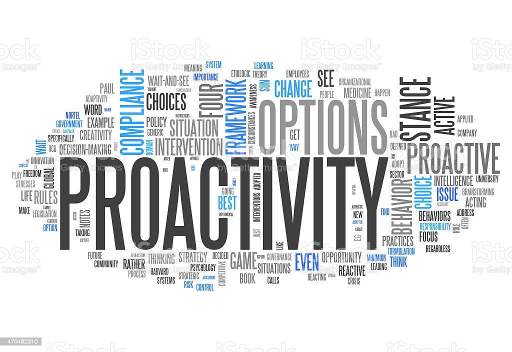 Word Cloud Proactivity vector art illustration