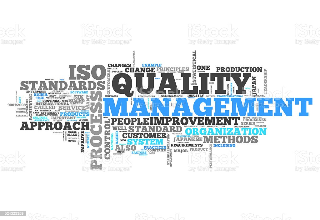 Word Cloud Quality Management vector art illustration