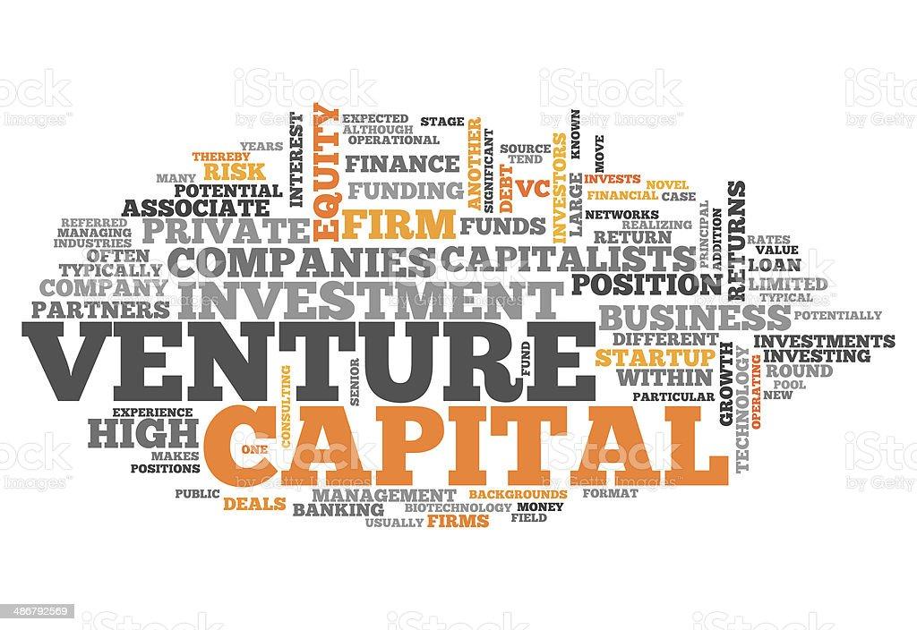 Word Cloud Venture Capital vector art illustration