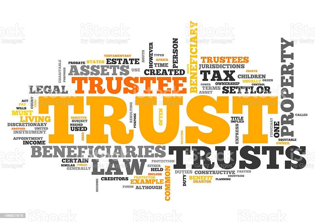 Wordcloud Trust vector art illustration