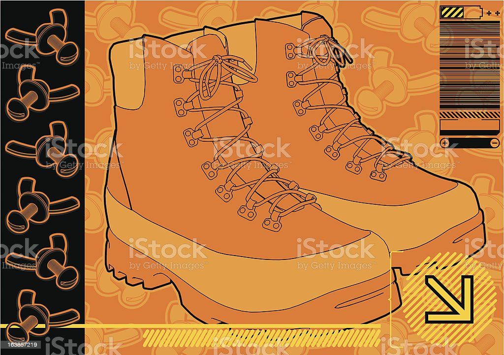 Work Boots. vector art illustration