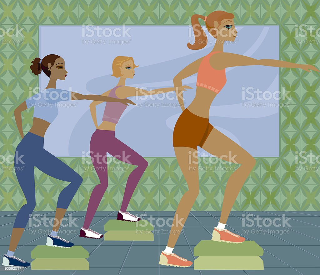 Work It Out vector art illustration