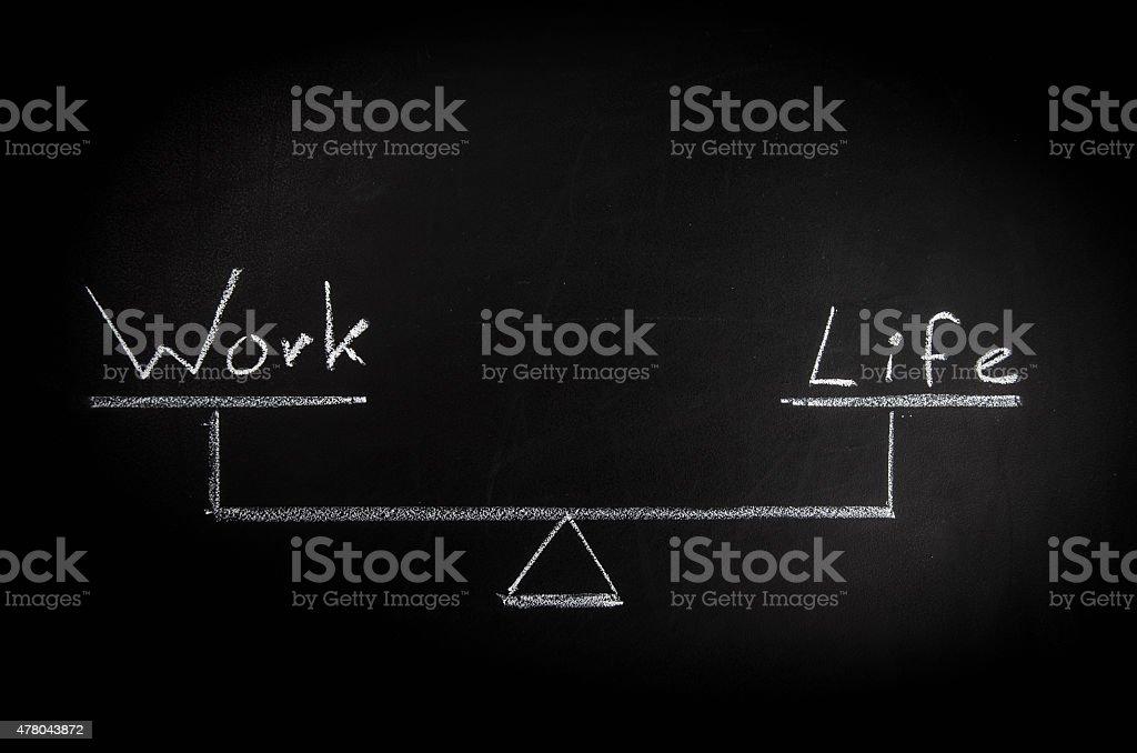 Work - Life Balance vector art illustration