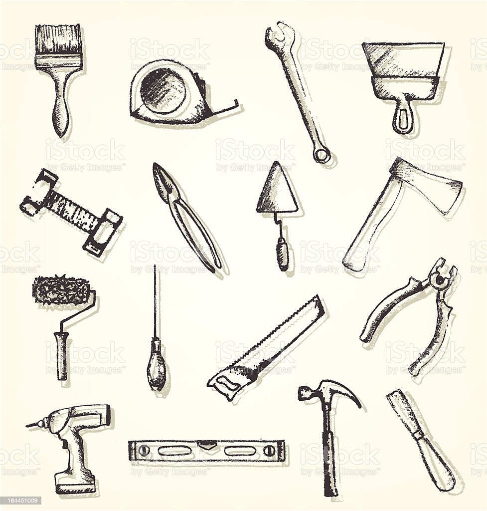 Working tools royalty-free stock vector art