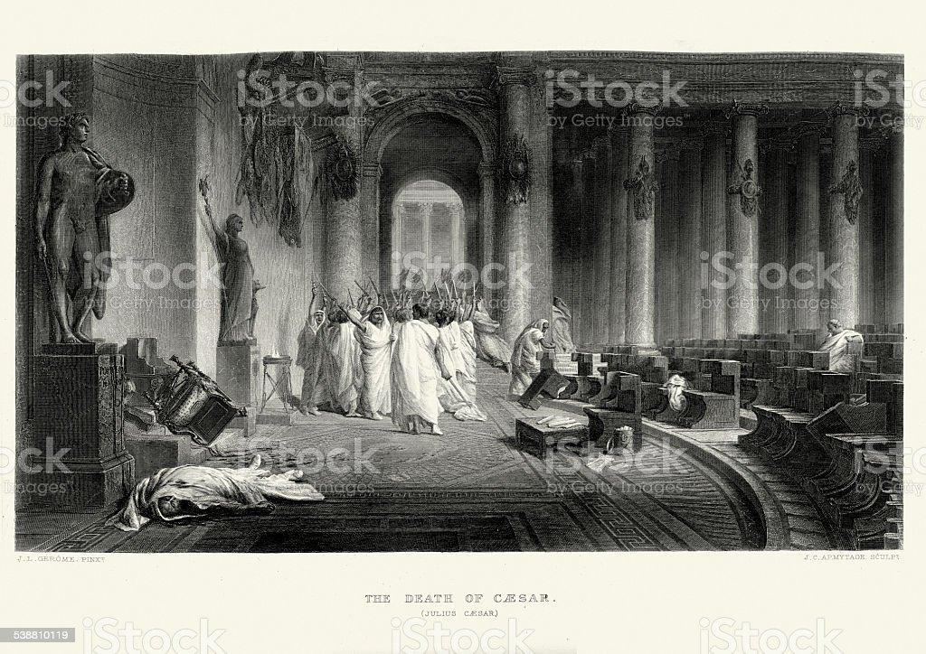 Works of William Shakespeare - Julius Caesar vector art illustration