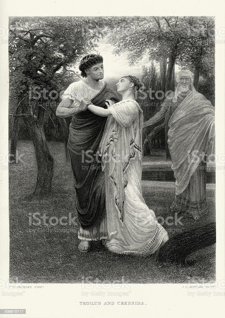 Works of William Shakespeare - Troilus and Cressida vector art illustration
