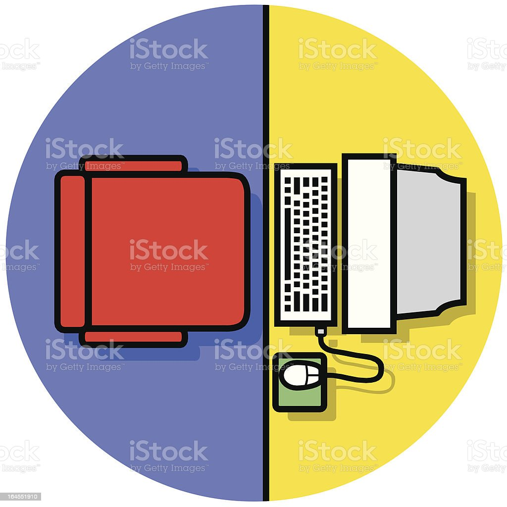 workstation icon royalty-free stock vector art