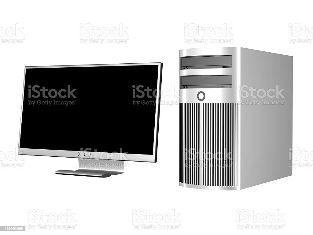 Workstation Setup royalty-free stock vector art