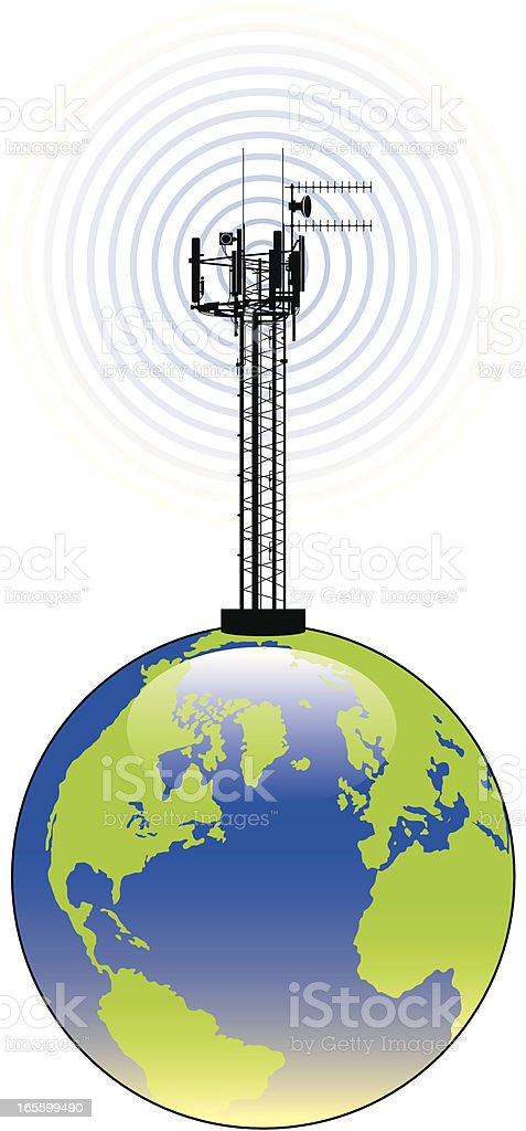 World broadcast two royalty-free stock vector art