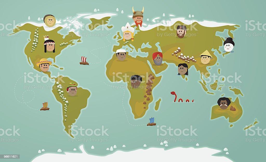 World civilization vector art illustration