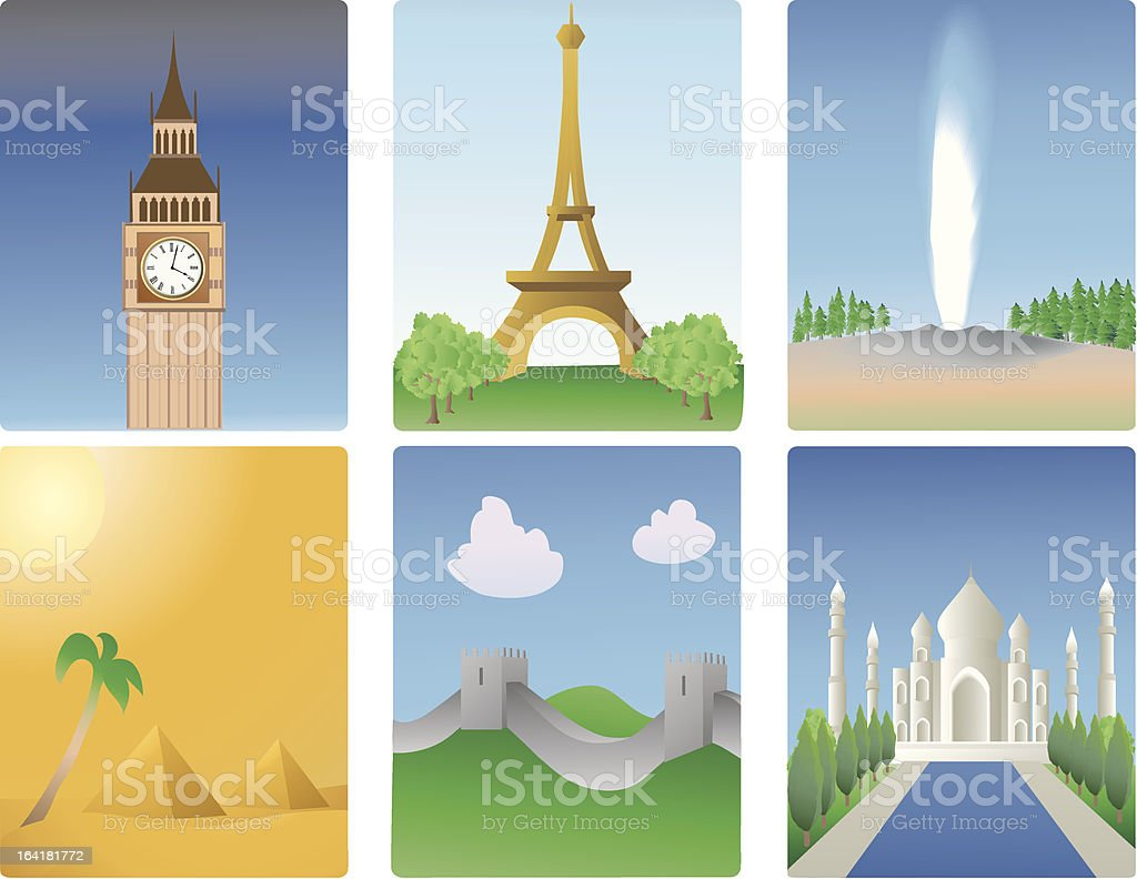 world destinations royalty-free stock vector art