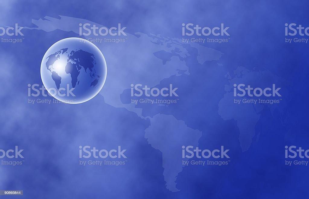 World Globe royalty-free stock vector art