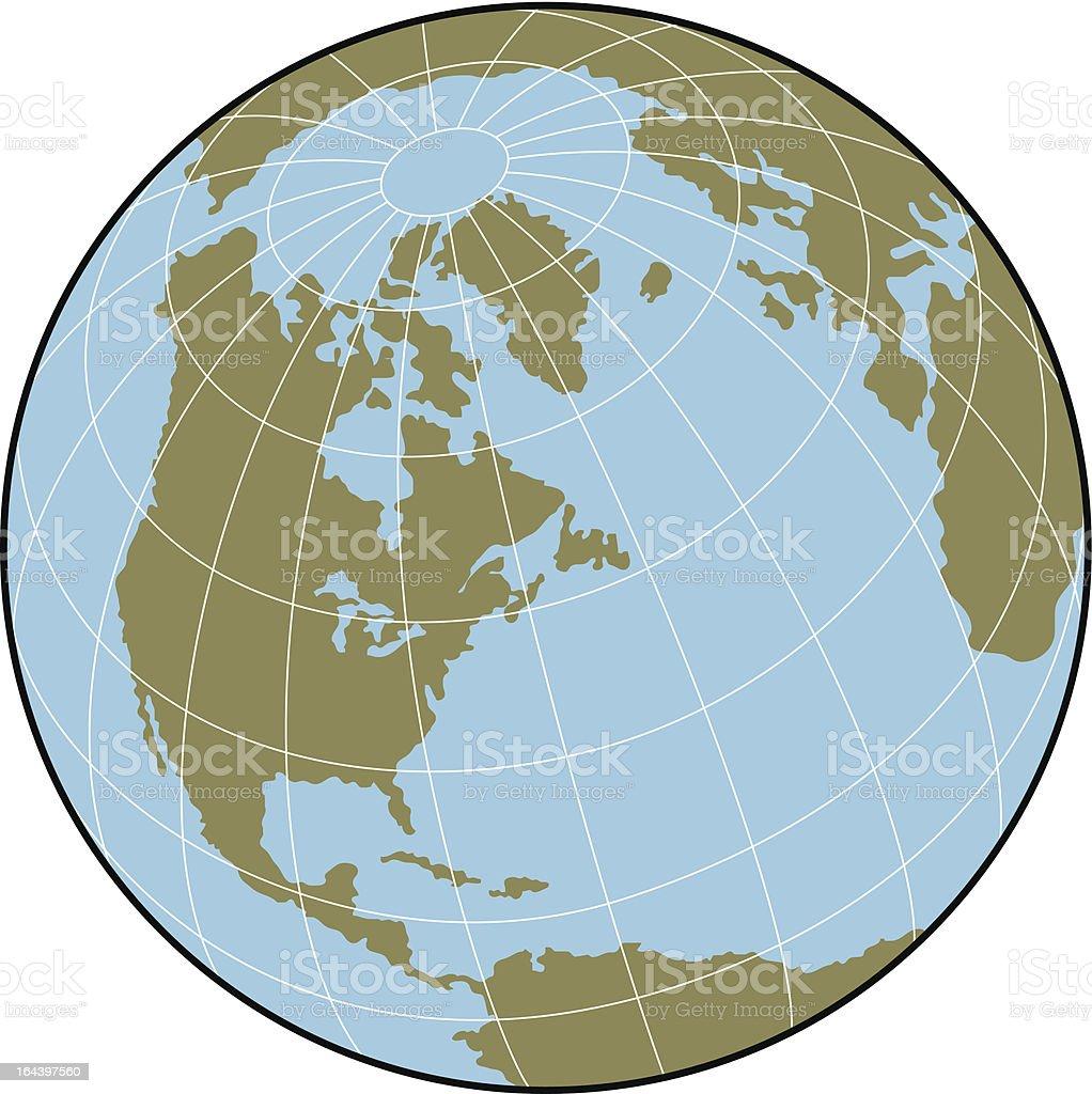 World Globe Isolated On White vector art illustration