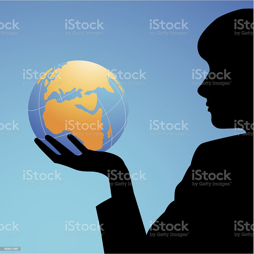 world in my hand royalty-free stock vector art