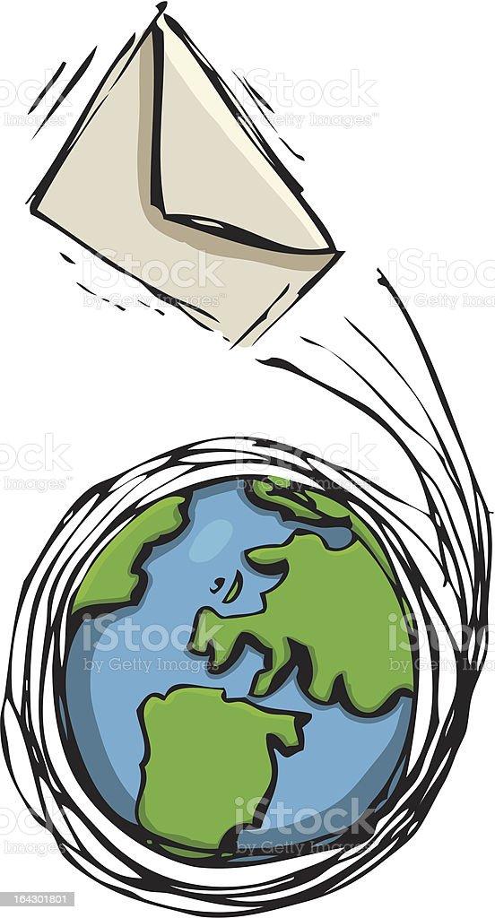 World Mail royalty-free stock vector art