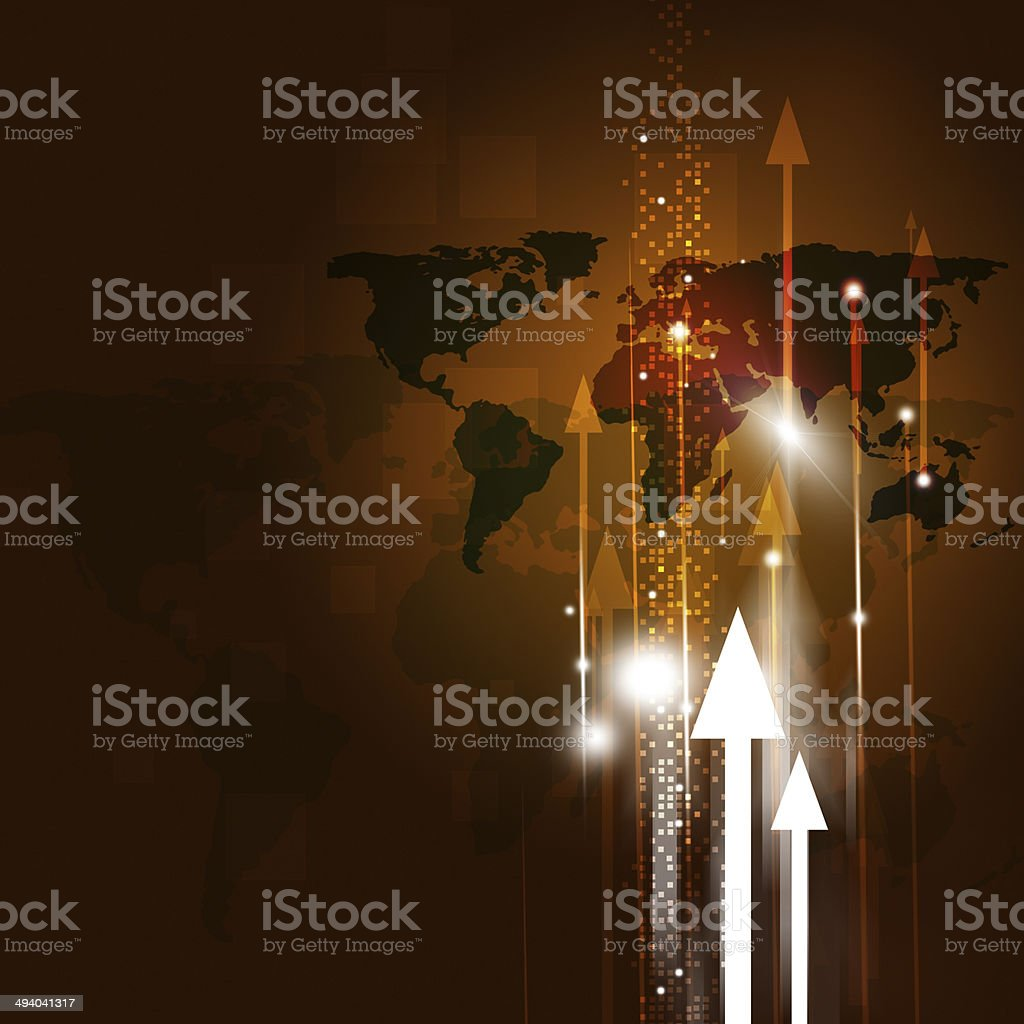 World Map Business Background royalty-free stock vector art