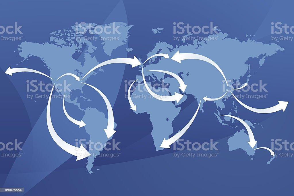 World Map | Economies vector art illustration