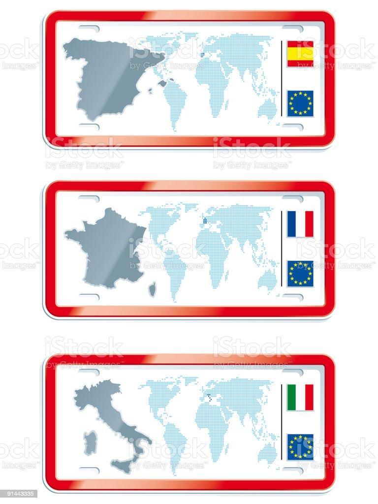world plates royalty-free stock vector art