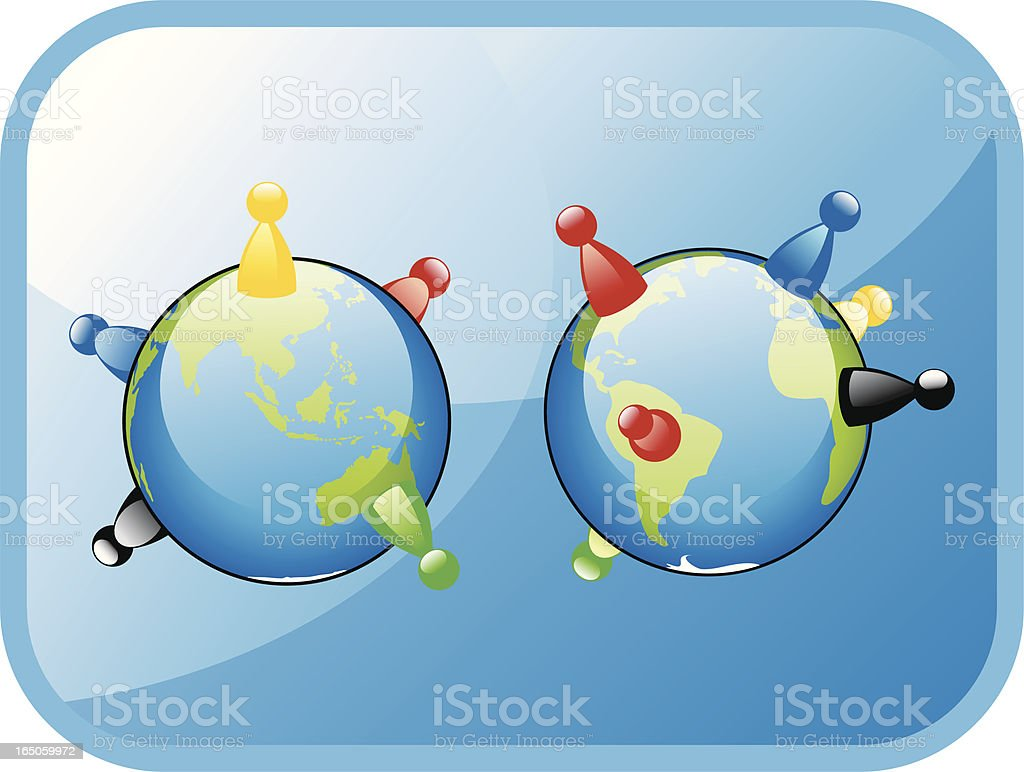 World populations royalty-free stock vector art