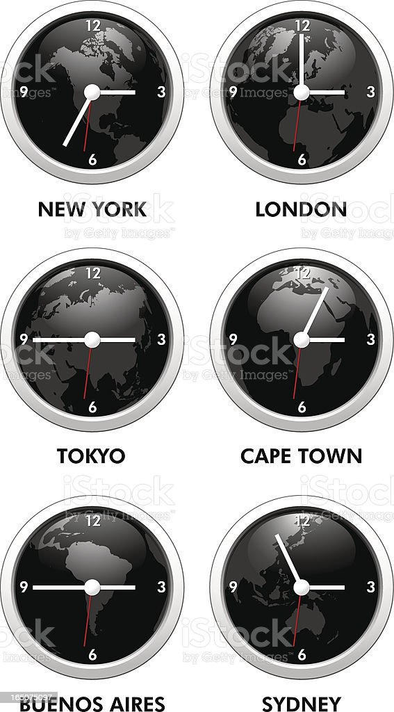 World Time vector art illustration