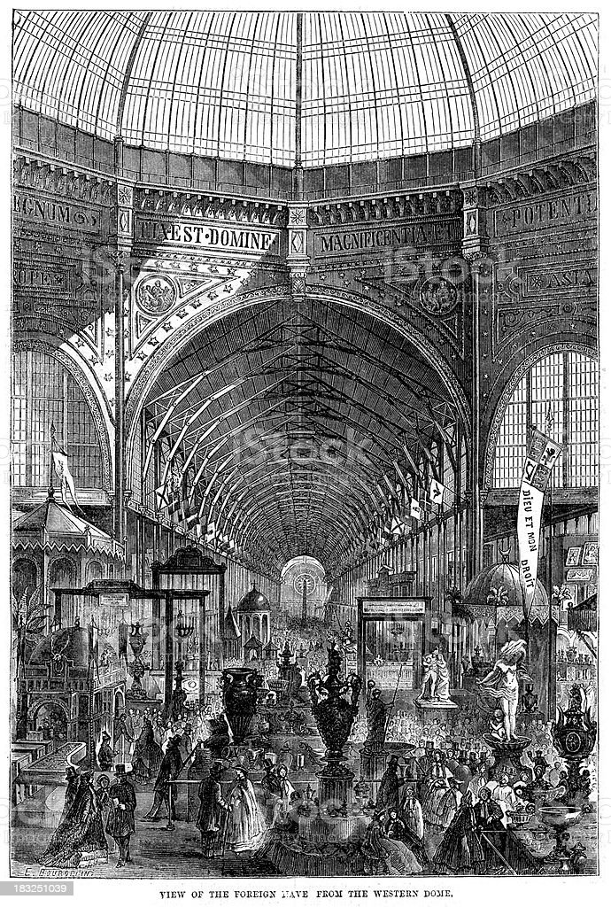 World's Fair 1862 London royalty-free stock vector art