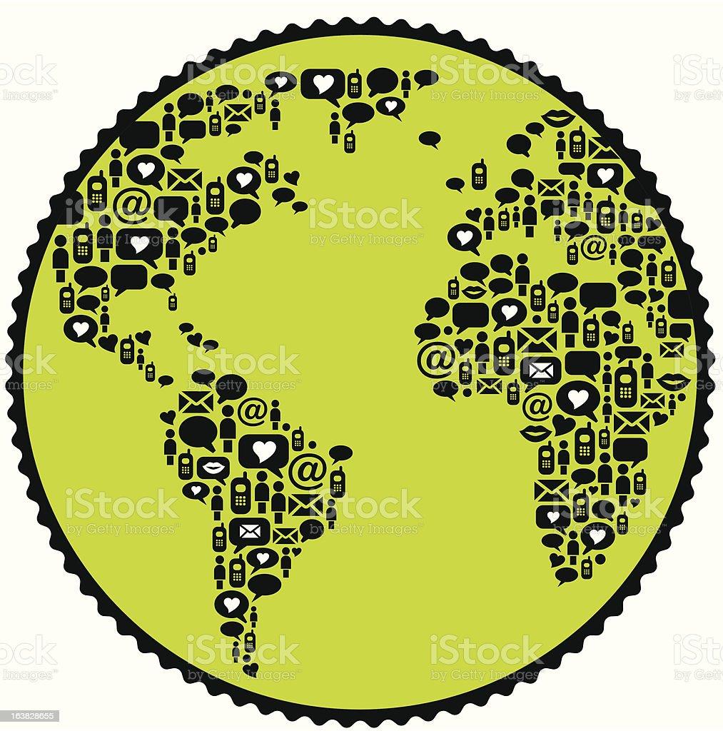 Worldwide communication vector art illustration